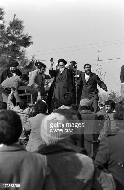 People crowd Behechte Zahra Cemetery in Tehran during the visit of Iranian opposition leader and founder of Iran's Islamic republic ayatollah...