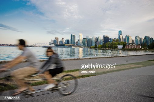 People Cycling in Vancouver