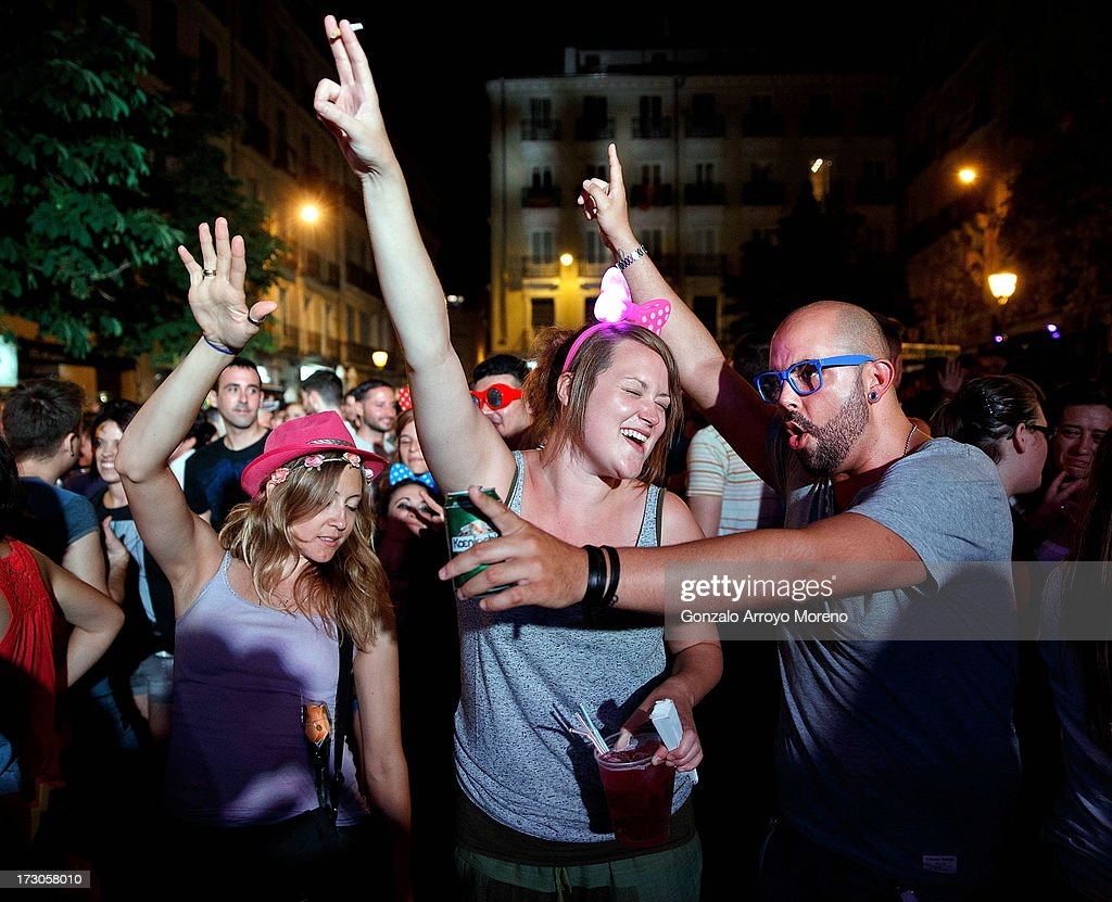 People dance and enjoy music at the Chueca Square stage during the Madrid Gay Pride Festival 2013 on July 5, 2013 in Madrid, Spain. According to a new Pew Research Center survey about homosexual acceptance around the world, Spain tops gay-friendly countries with an 88 percent acceptance rate.