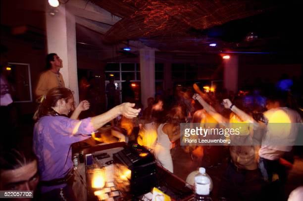 People Dancing at a Hotel Nightclub
