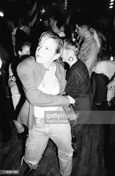 People dancing to acid house music at the Hacienda night club in Manchester 5th October 1988