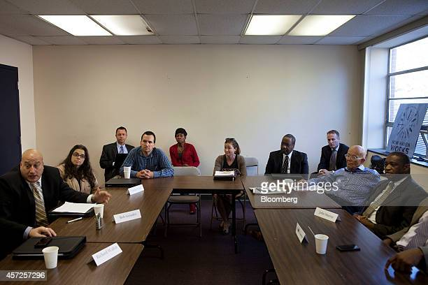 People dealing with longterm unemployment participate in a roundtable discussion as part of regional workforce development agency The WorkPlace's...