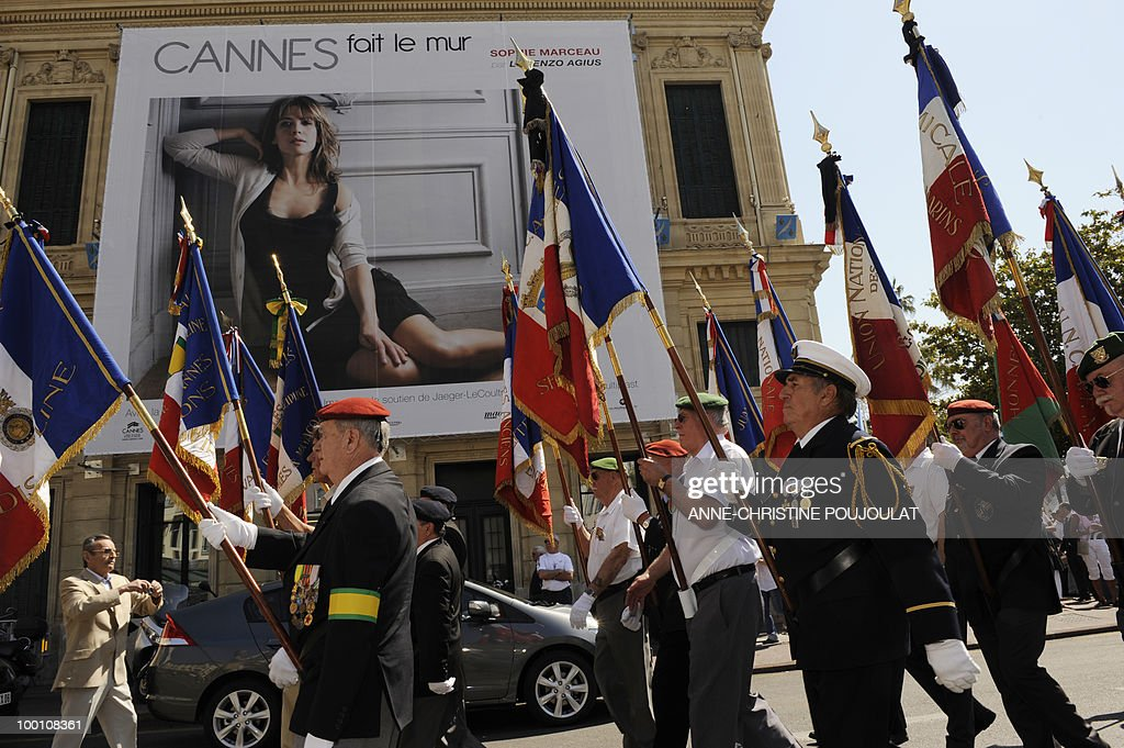 People demonstrate in Cannes to protest against the film 'Outside Of The Law' by French-Algerian director Rachid Bouchareb, whom they accuse of distorting history, on the sidelines of the 63rd Cannes Film Festival on May 21, 2010 in Cannes. Opening with a massacre of Algerian civilians by French soldiers in the town of Setif in 1945 -- a controversial historical event which some critics say has been misrepresented -- the film is one of very few cinematic treatments of the conflict.