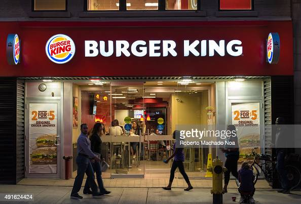 DOWNTOWN TORONTO ONTARIO CANADA People dining at the Burger King restaurant in Toronto Burger King is a global chain of hamburger fast food...