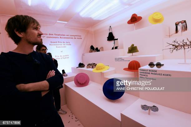 People discover the exhibition of the fashion accessories at the Villa Noailles on Aoril 28 during the 32nd edition of the International Festival of...