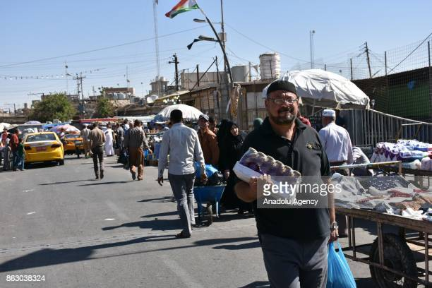 People do shopping as the daily life turn to normal after town center of the city has been secured in Kirkuk Iraq on October 19 2017 Iraqi forces on...