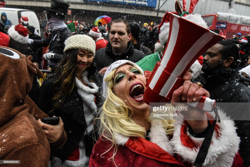 Festive Drunks Flood Streets of NYC