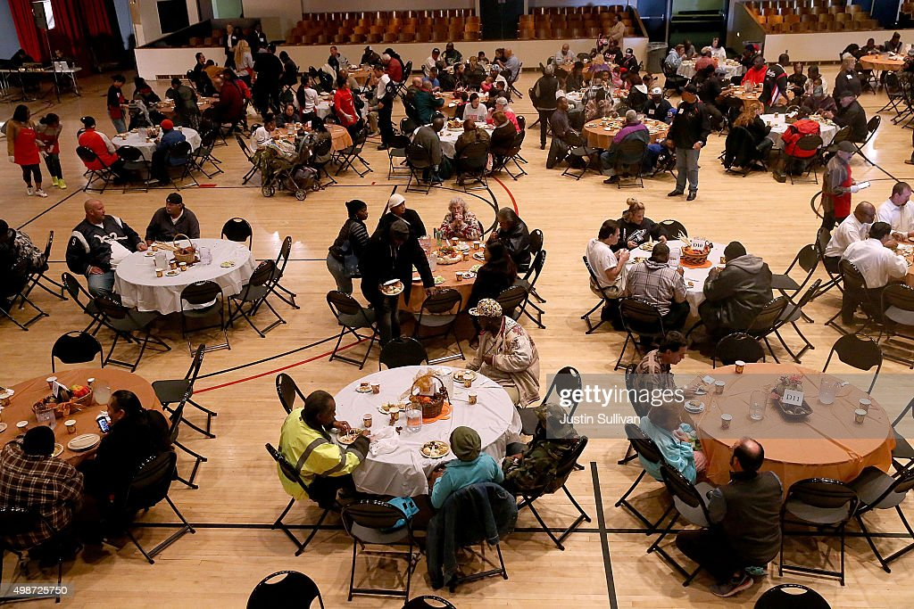 Bay area charities feed the needy ahead of thanksgiving for What do people eat on thanksgiving