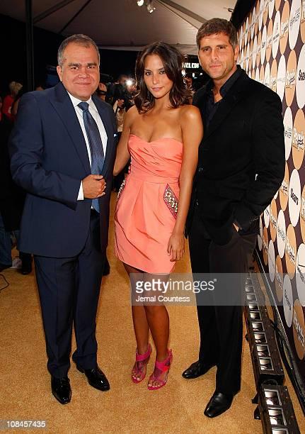 People en Espanol managing editor Armando Correa actress Genesis Rodriguez and actor/singer Christian Meier attend People En Espanol's '50 Most...
