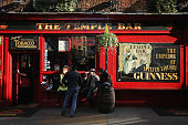 People enjoy a drink outside a bar in the Temple Bar area on October 23 2013 in Dublin Ireland Dublin is the capital city of The Republic of Ireland...