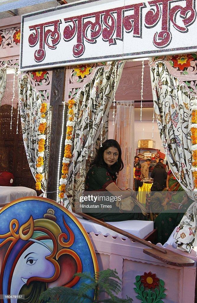 People enjoy during inauguration of Northern railway's Rail mela at Baroda house on Febraury 1, 2013 in New Delhi, India.