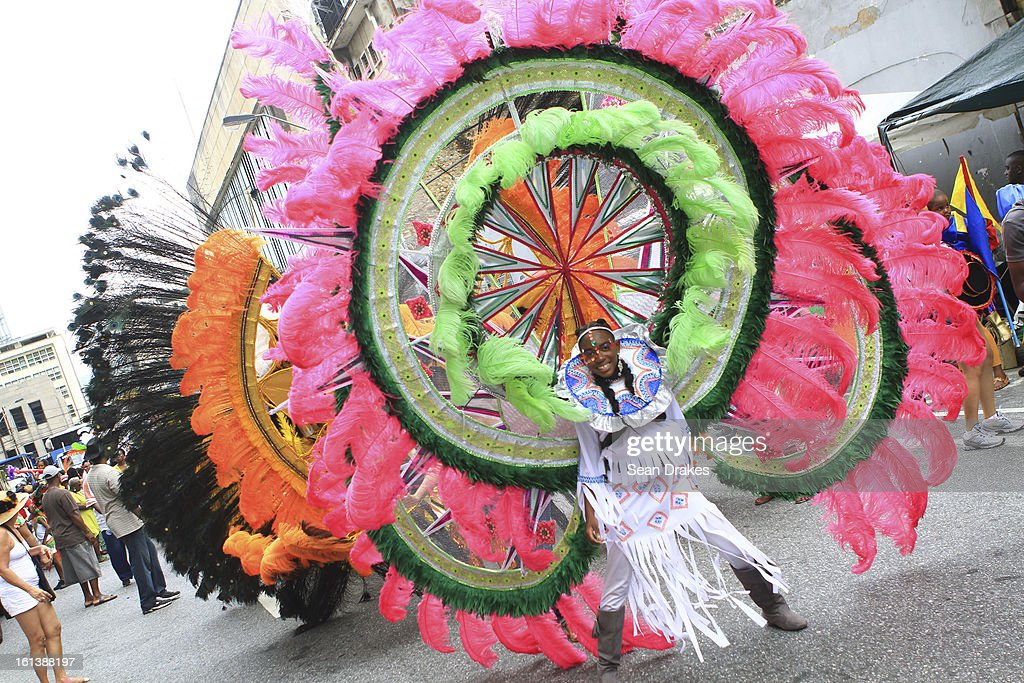 People enjoy in the Republic Bank Childen's Carnival Parade in Port of Spain, Trinidad on February 9, 2013.