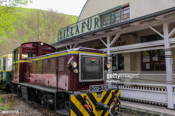 People enjoy sunny and warm Easter weater in Hungary walking in Bukk Mountains The State Forest Railways of Lillafured train is seen in Lillafred...