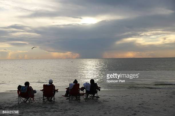 People enjoy the beaches and fishing pier in Naples before the arrival of Hurricane Irma into Southwest Florida on September 8 2017 in Bonita Springs...
