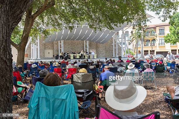 People Enjoy the Music of the Gulf Coast Big Band