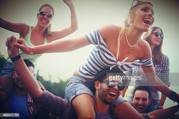People enjoying a concert.