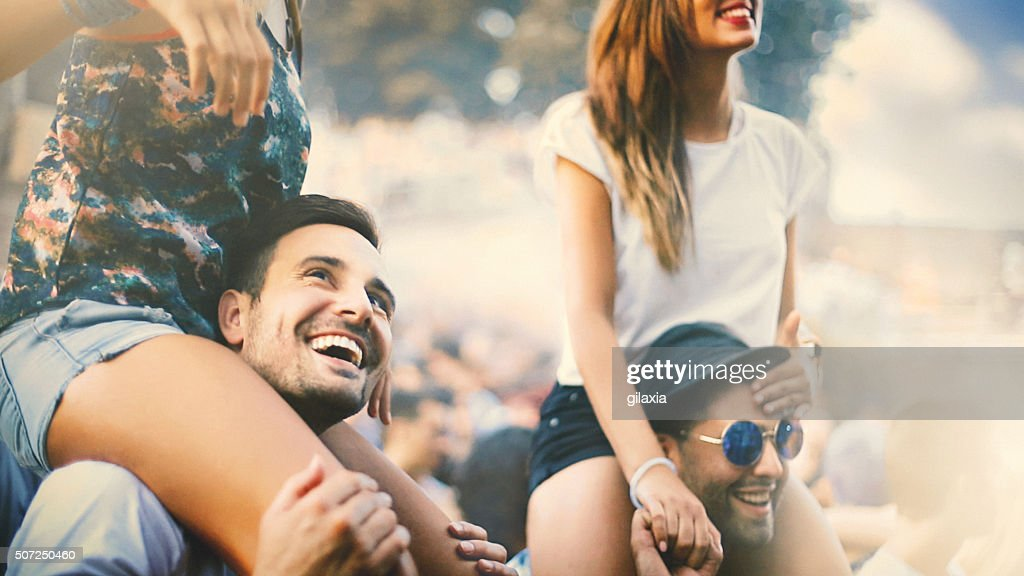 People enjoying a concert. : Stock Photo