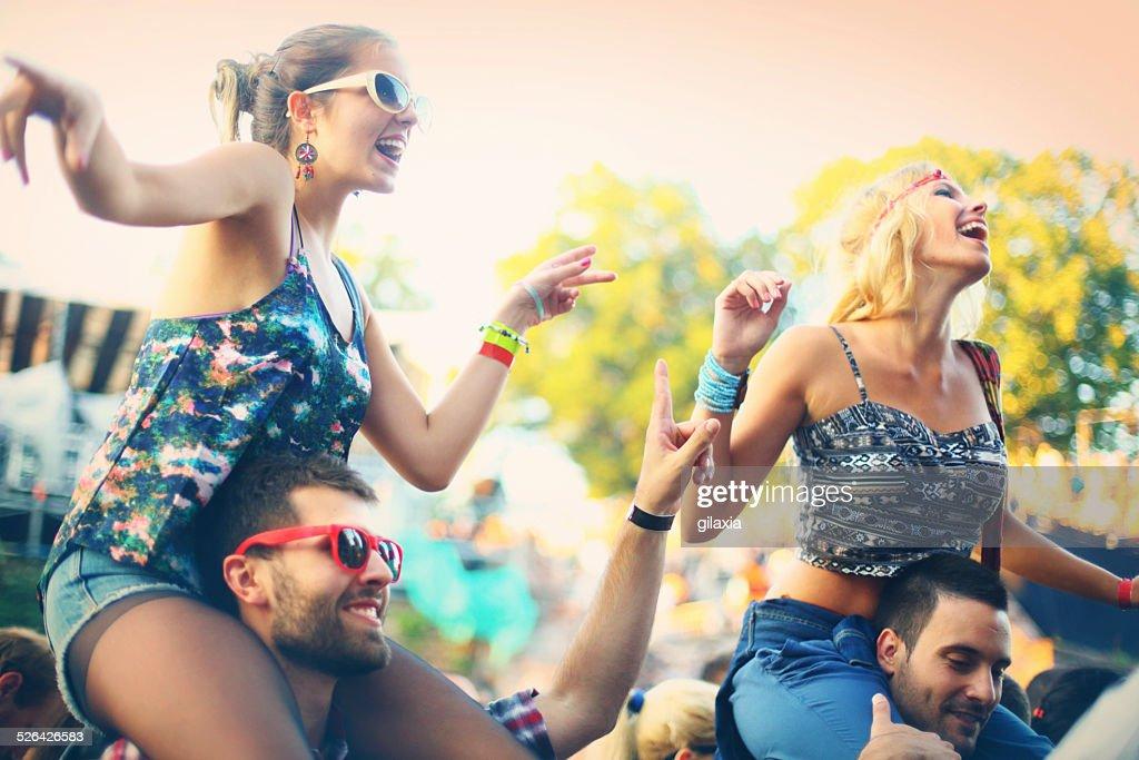 People enjoying a concert. : Stock Photo