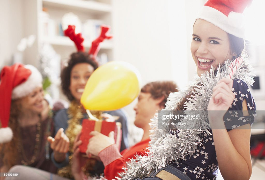 People enjoying Christmas party : Stock Photo