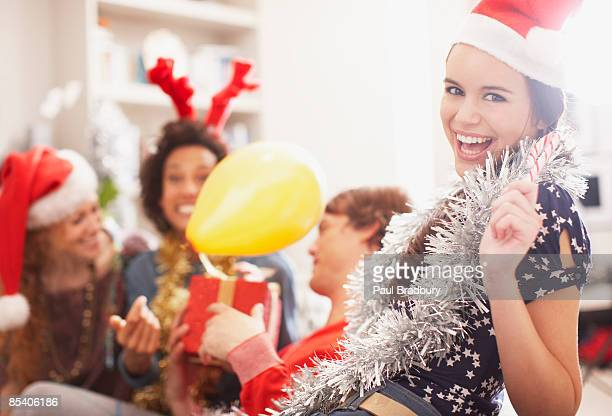 People enjoying Christmas party