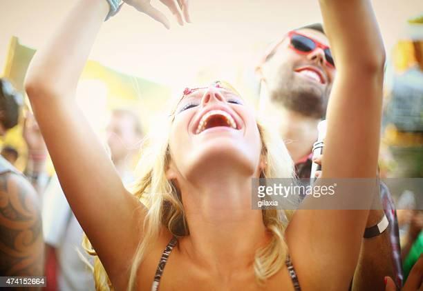 Menschen, die Konzert-party.