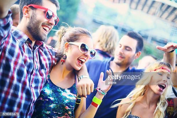 People enjoying concert party.