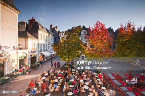 People enjoying the restaurants of Old Tours.