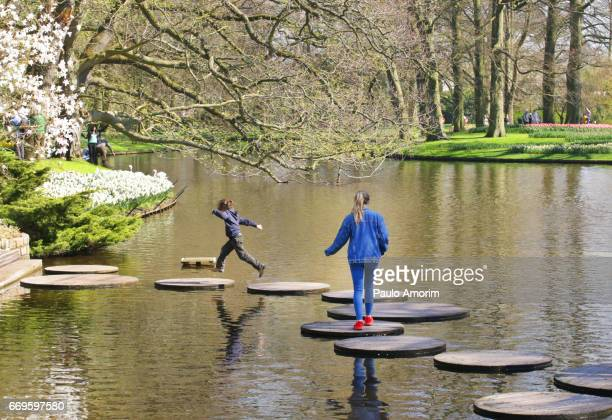 People Enjoying the Springtime in Netherlands