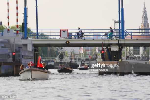 People Enjoying the Summer in Amsterdam