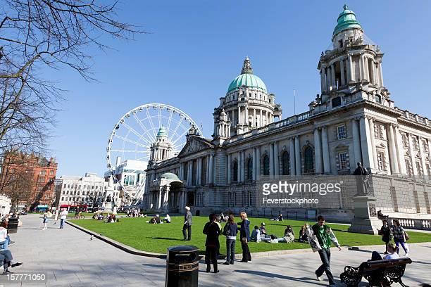 People Enjoying The Weather, Belfast City Hall, Northern Ireland