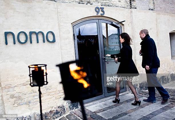 People ente the Noma restaurant in Copenhagen on April 27 2010 the day after Noma was chosen for the world's best restaurant according to S...
