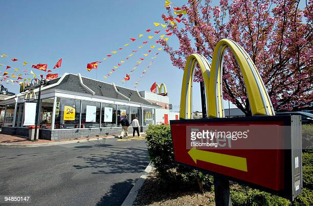 People enter a McDonald's restaurant in the Brooklyn borough of New York US on Tuesday April 22 2008 McDonald's Corp the world's largest restaurant...