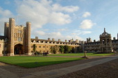 People enter the Great Court of Cambridge University's Trinity College on October 29 2009 The 500yearold college one of the wealthiest academic...