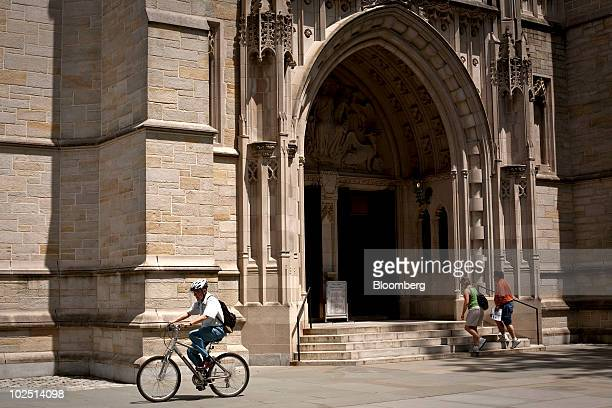 People enter the Princeton University chapel on the school's campus in Princeton New Jersey US on Monday June 21 2010 Princeton University the...