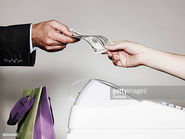 People exchanging money