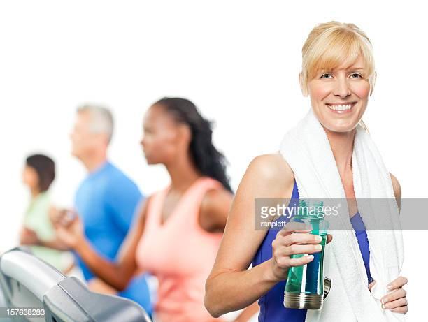 People Exercising on Treadmills - Isolated