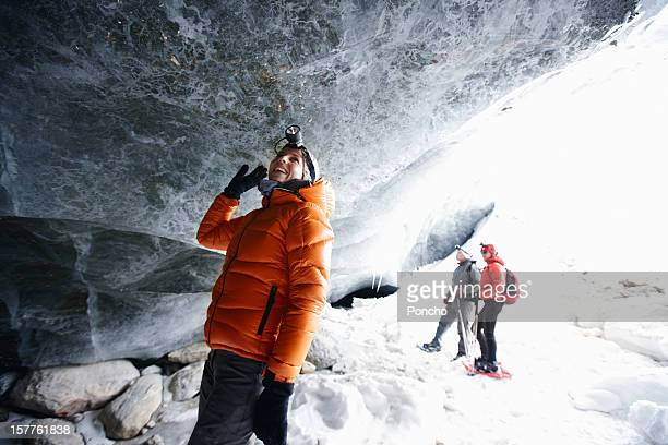 People exploring Ice Cave