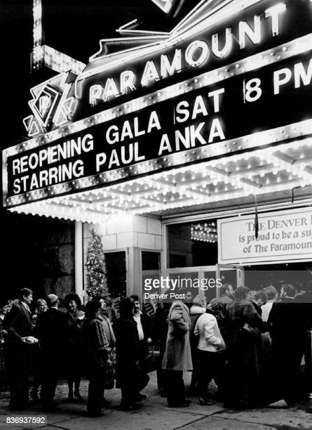 People file into the Paramount Theatre tonight for the grand opening of the historic downtown KK landmark Paul Anka played a concert for the program...