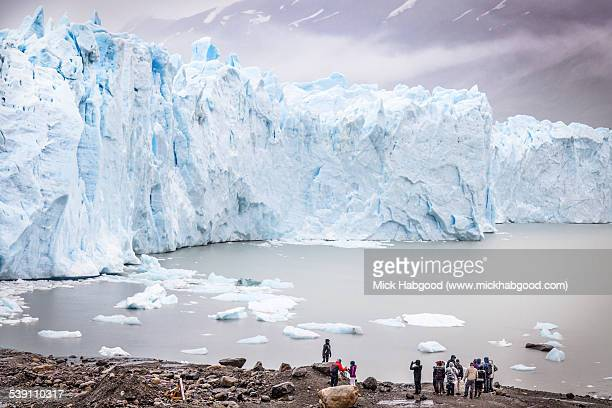 People foreground at Perito Merino Glacier