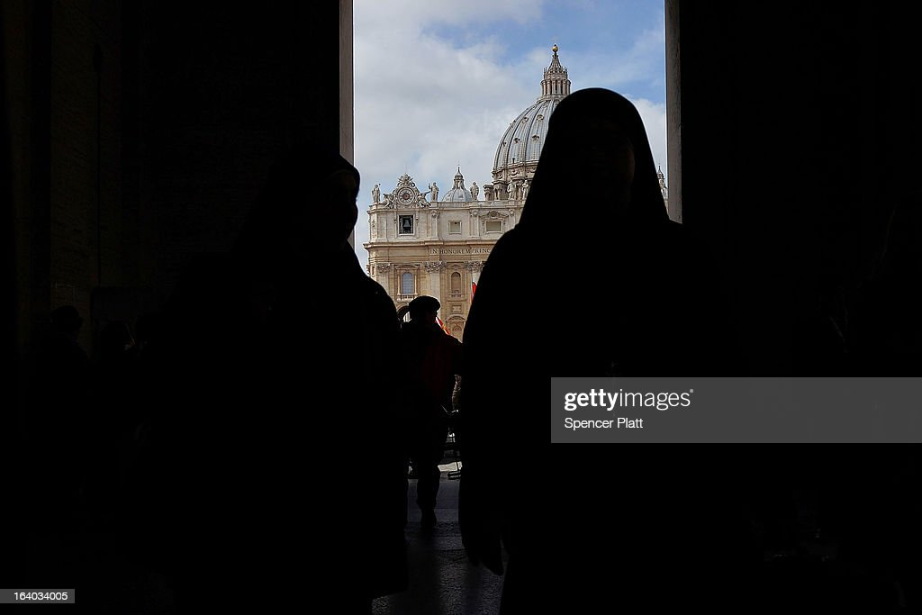 People from around the world leave the Inauguration Mass for Pope Francis in St Peter's Square on March 19, 2013 in Vatican City, Vatican. The mass was held in front of an expected crowd of up to one million pilgrims and faithful who had filled the square and the surrounding streets to see the former Cardinal of Buenos Aires officially take up his role as pontiff.