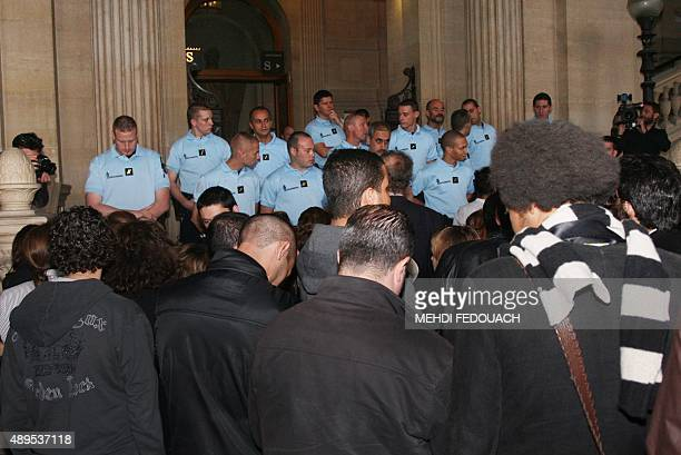 People from the French Jewish community wait for the verdict of the twomonth trial of a Paris gang called 'The Barbarians' for an antiSemitic murder...