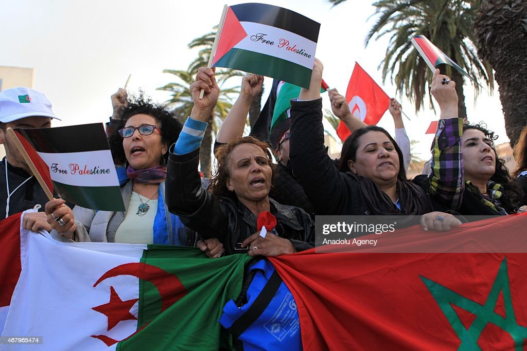 People from the World Social Forum gather to denounce terror in Tunis Tunisia on March 28 2015 Thousands of people with the participation of 121...