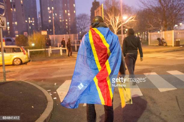 People from varied societies stage a protest against police violence on February 11 2017 in Bobigny District of Paris France Protests erupted...