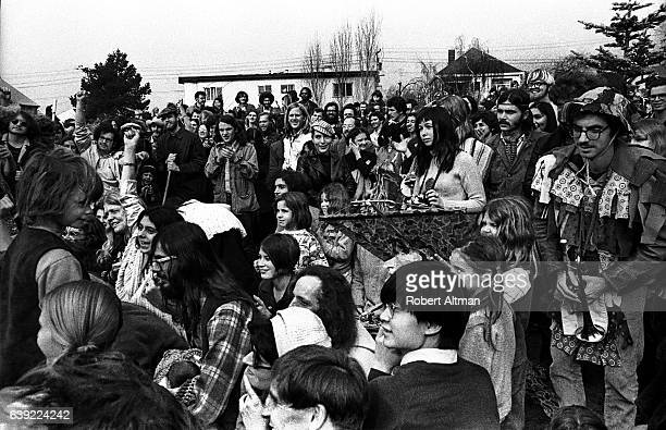 People gather at People's Park on January 24 1970 in Berkeley California