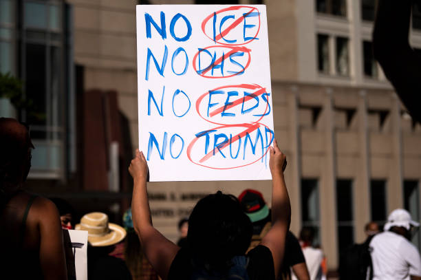 MN: Protestors In Minneapolis Rally Against Federal Law Enforcement In U.S. Cities