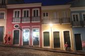People gather in the historic Pelourinho neighborhood on January 10 2014 in Salvador Brazil Salvador the original capital of Brazil will host six...