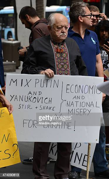 People gathered outside the Sofitel Hotel where G20 Finance Ministers and Central Bank Governors Meeting held in Sydney Australia to protest the...