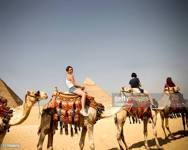 People going for a camel ride in Egypt