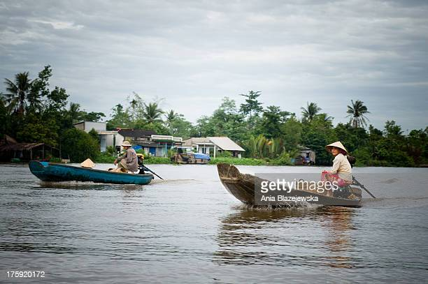 CONTENT] People going to the floating market in Can Tho which os one of many famous floating markets on Mekong Delta This southern region of Vietnam...