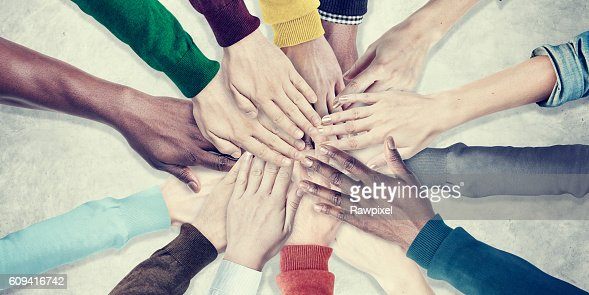 People Hands Together Unity Team Cooperation Concept : Stock Photo